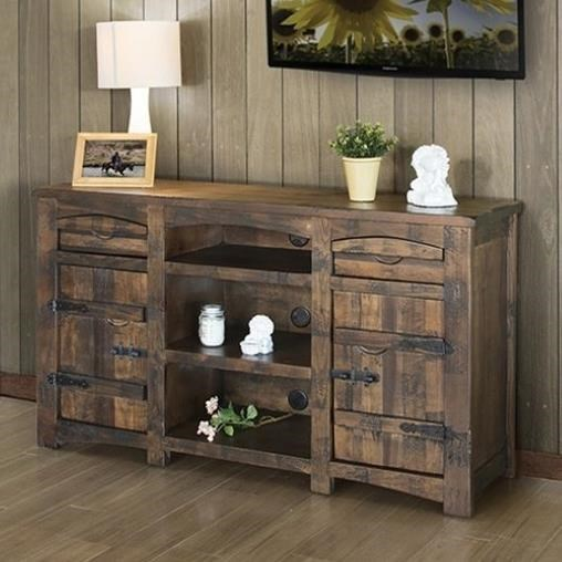 International Furniture Direct Mezcal Ifd567stand 60 Rustic Solid