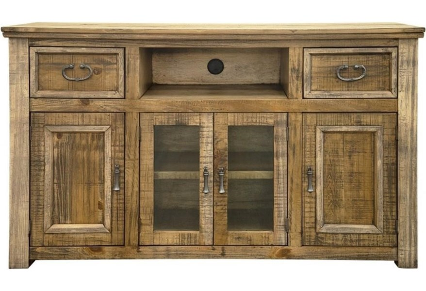 International Furniture Direct Montana Rustic 60 Tv Stand With 2 Drawers And 4 Doors Zak S Home Tv Stands