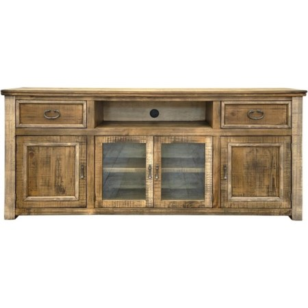 """80"""" TV Stand with 2 Drawers and 4 Doors"""