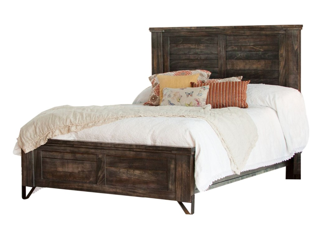 International Furniture Direct MoroQueen Low Profile Bed