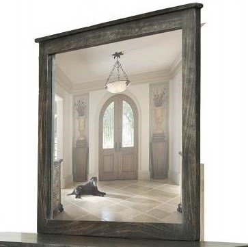 International Furniture Direct Moro Contemporary Mirror with Solid ...