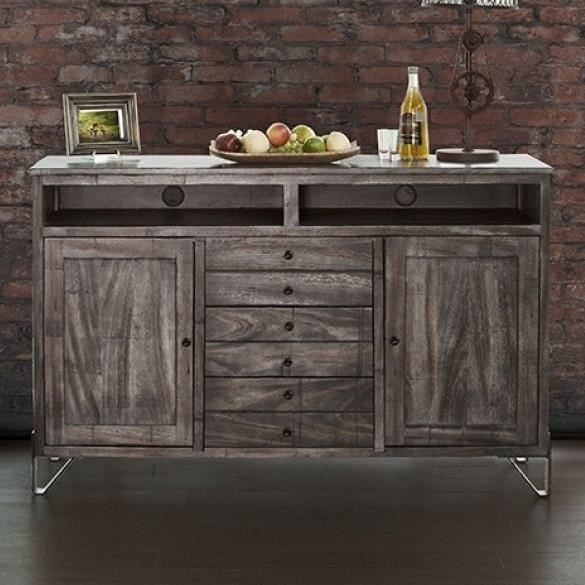 International Furniture Direct Moro Contemporary Solid Wood 60 Tv