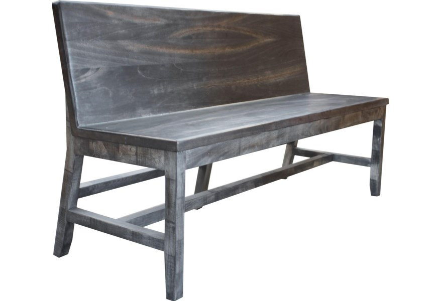 Ifd Moro Rustic Solid Wood Bench With