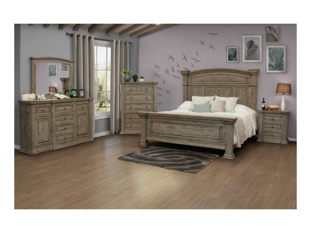 International Furniture Direct PalaceQueen Bedroom Group