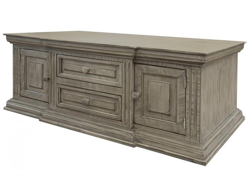 International Furniture Direct Palace4-Drawer, 4-Door Cocktail Table