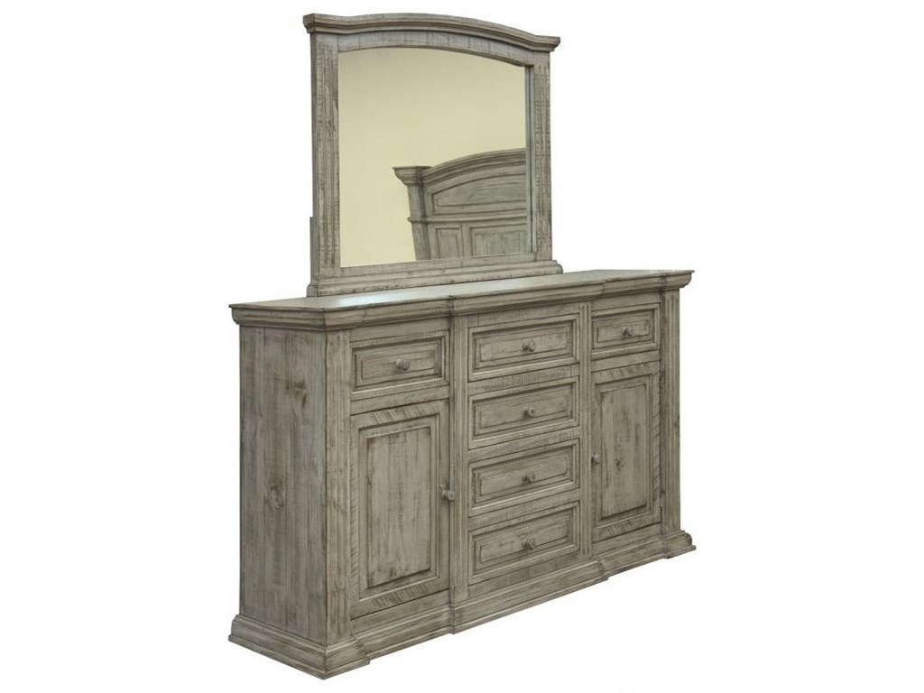 International Furniture Direct PalaceDresser and Mirror Set