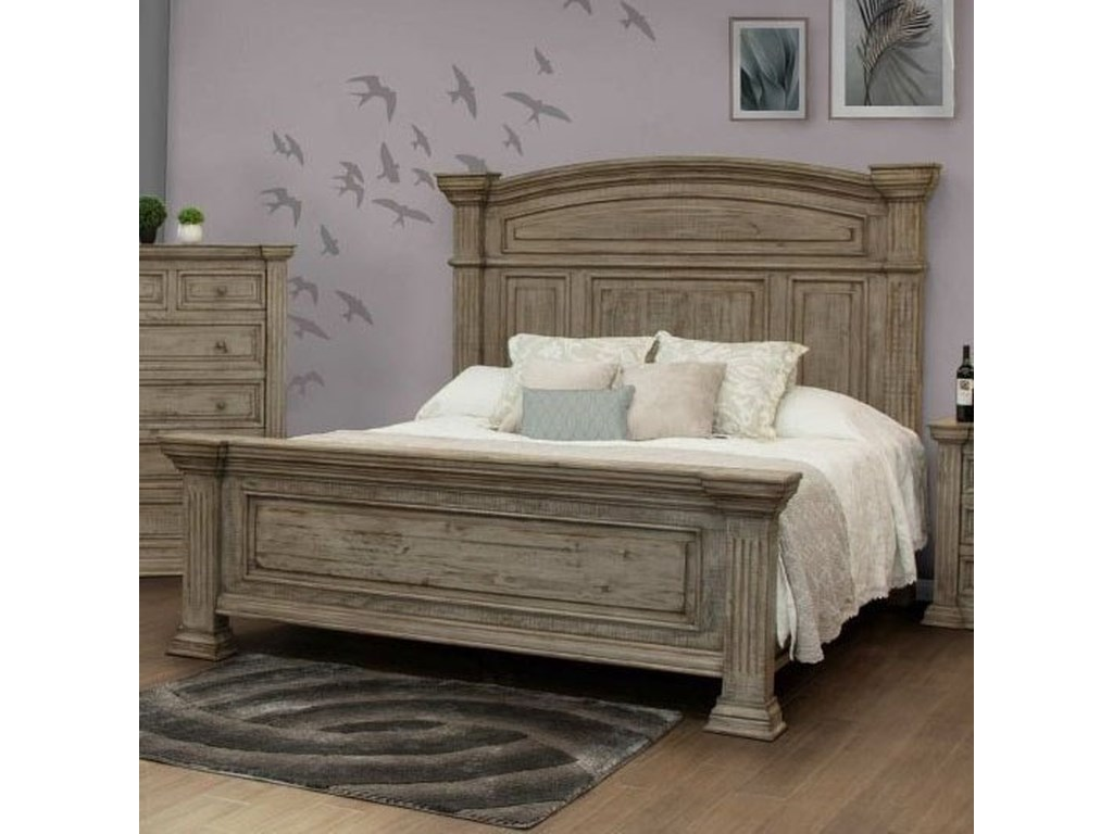 International Furniture Direct PalaceQueen Panel Bed