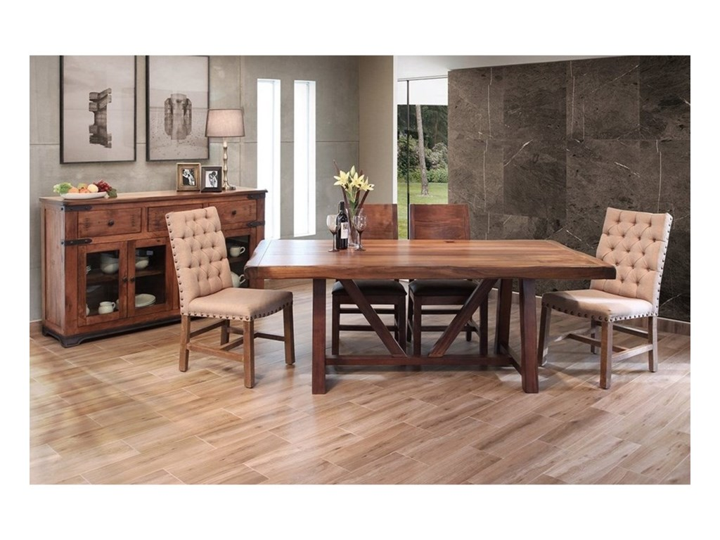 International Furniture Direct Parota Formal Dining Room Group ...