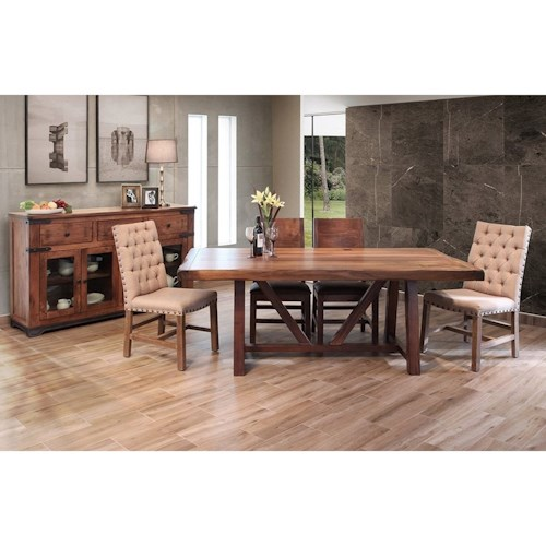 International Furniture Direct Parota Formal Dining Room Group