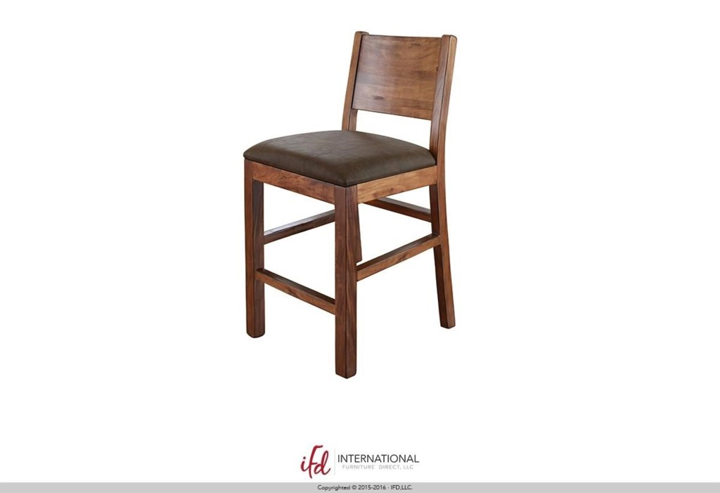 International Furniture Direct Parota Ifd865bs30 30 Bar Stool With