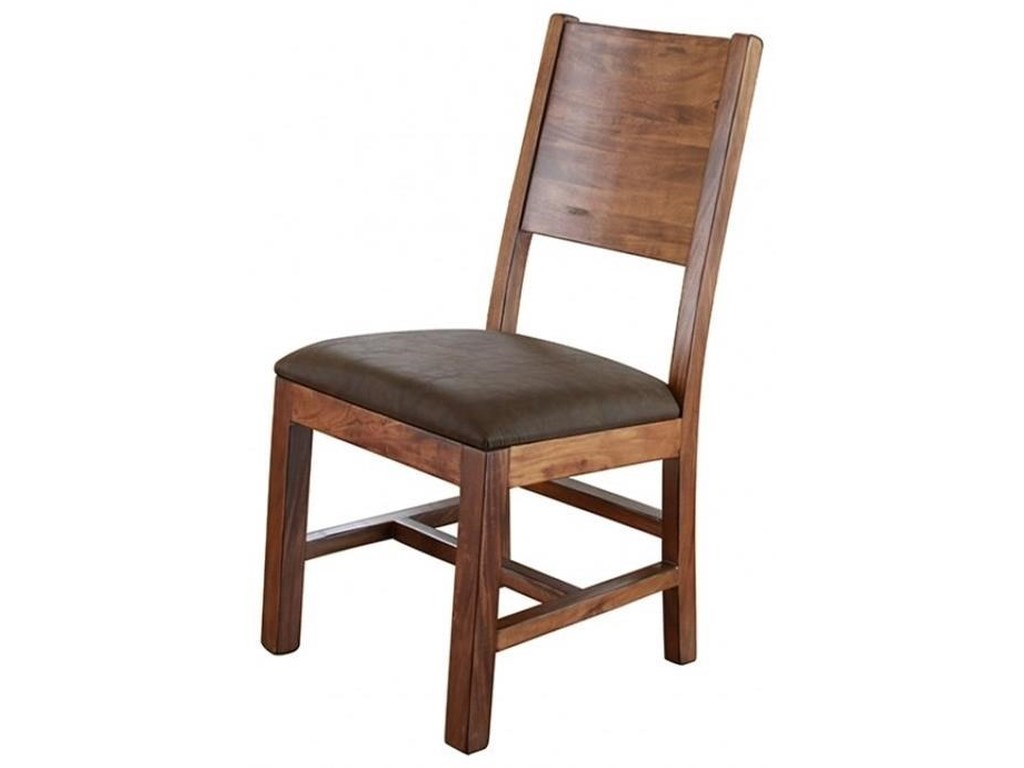 International Furniture Direct ParotaChair with Solid Wood Back