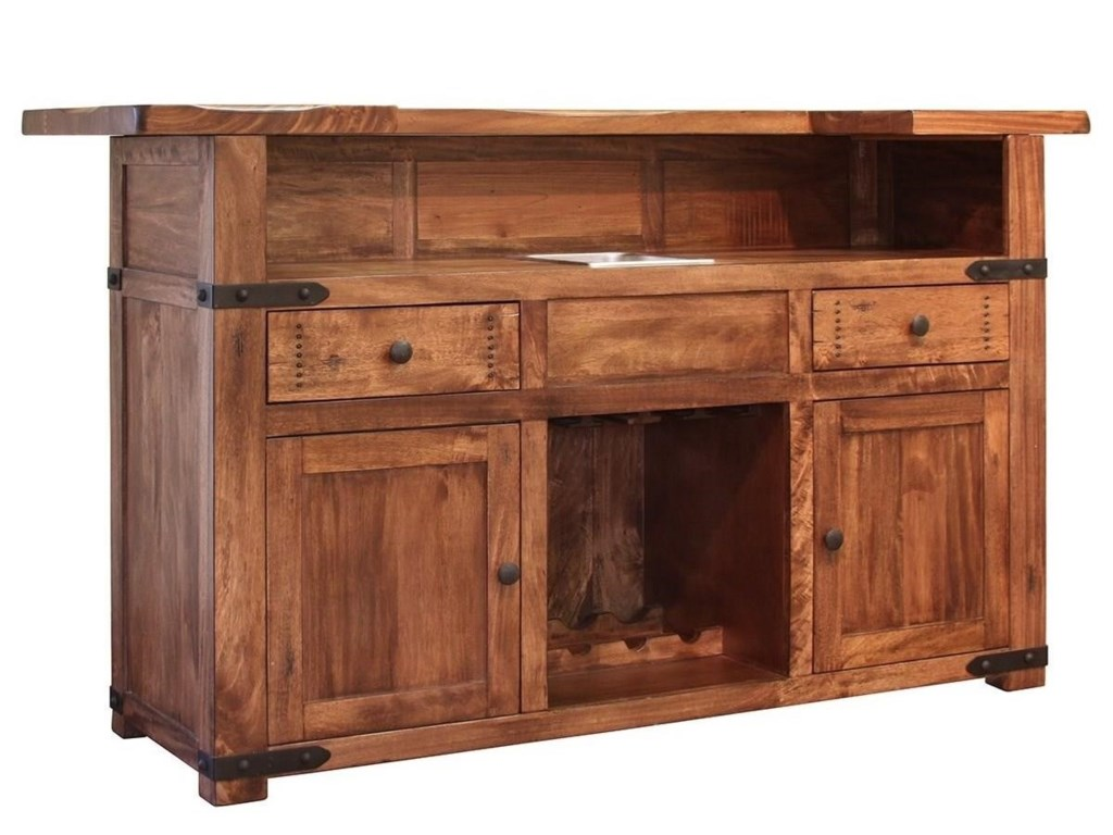 International Furniture Direct ParotaWood Bar