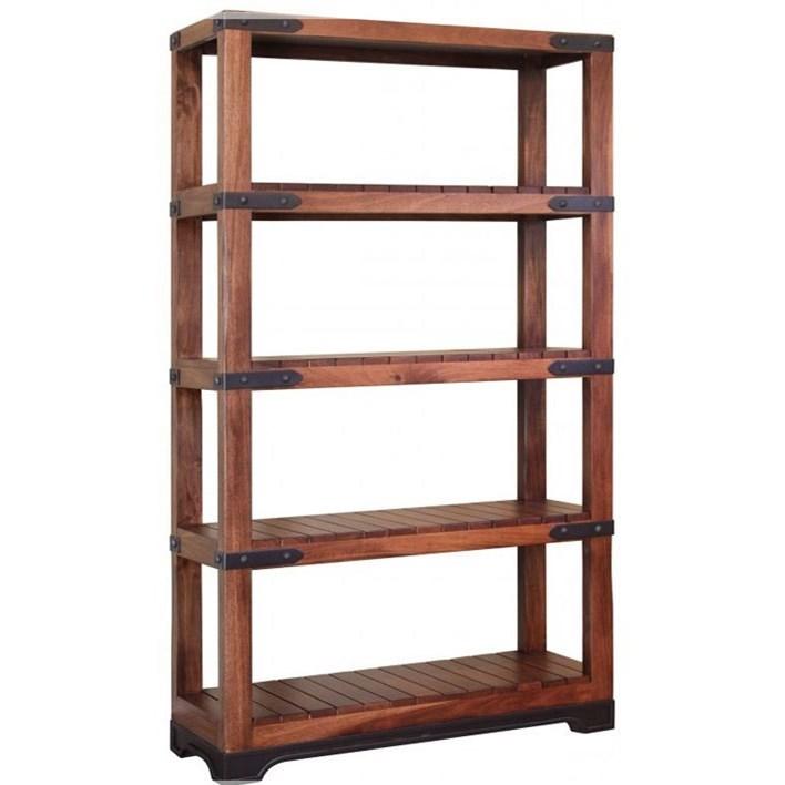 International Furniture Direct Parota4 Shelf Bookcase ...