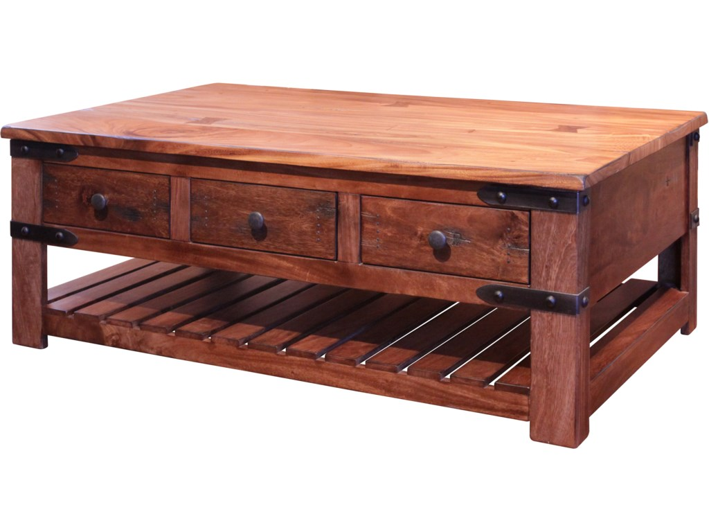 International Furniture Direct ParotaCocktail Table with 6 Drawers