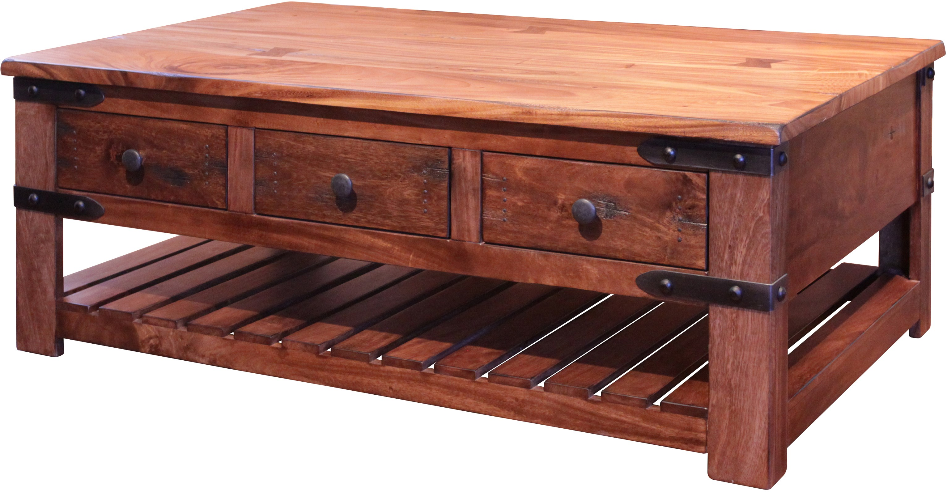 Artisan Home Parota Cocktail Table With 6 Drawers