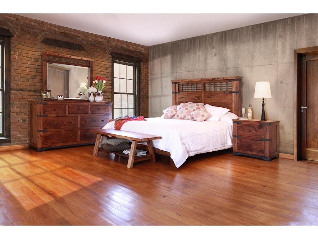 International Furniture Direct ParotaDresser and Mirror Set