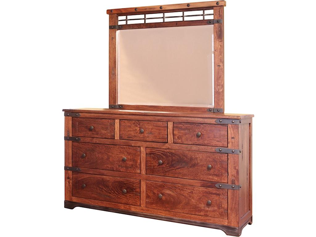 International Furniture Direct Parota7 Drawer Dresser