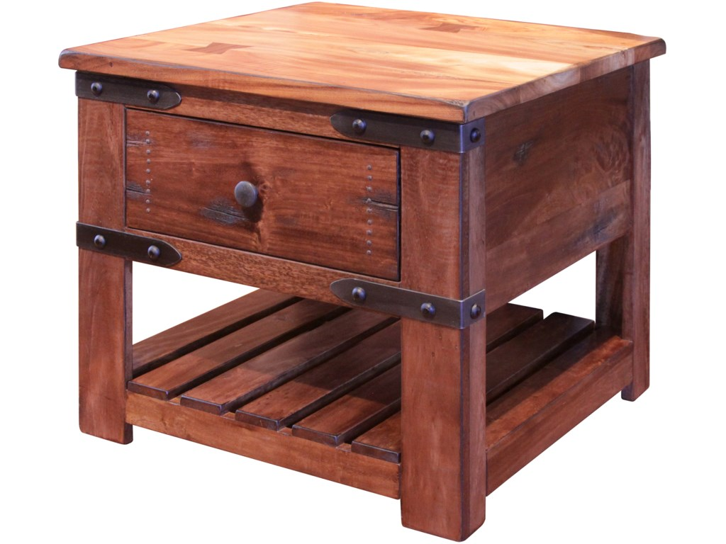 International Furniture Direct ParotaEnd Table with Drawer
