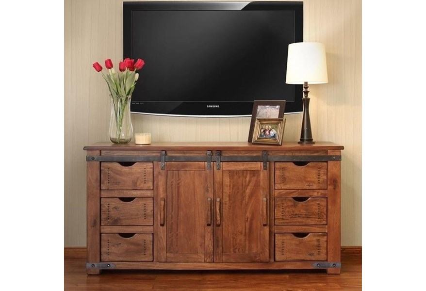 Parota 70 Tv Stand With 6 Drawers By International Furniture Direct At Miller Waldrop And Decor