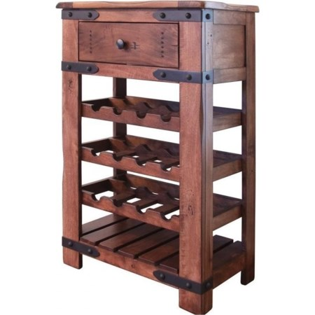 Wine Bottle Holder with 1 Drawer