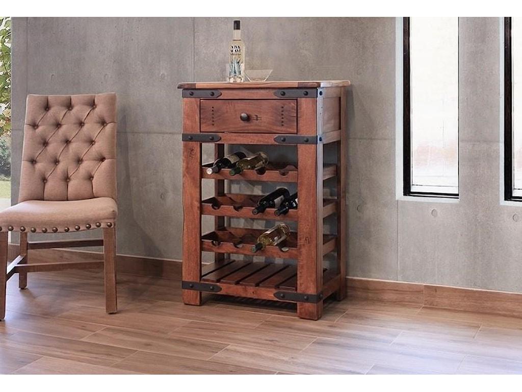 International Furniture Direct Parotawine Rack