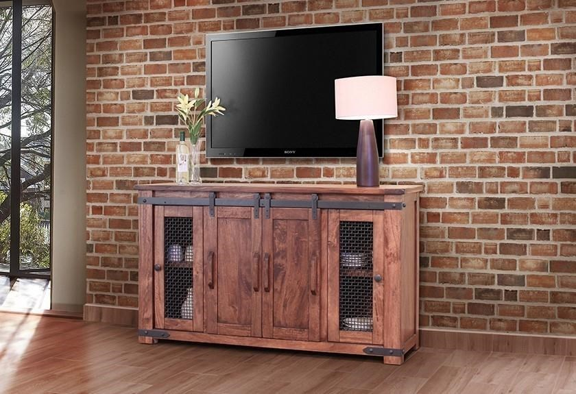 International Furniture Direct Parota Ifd867stand 60 60 Tv Stand