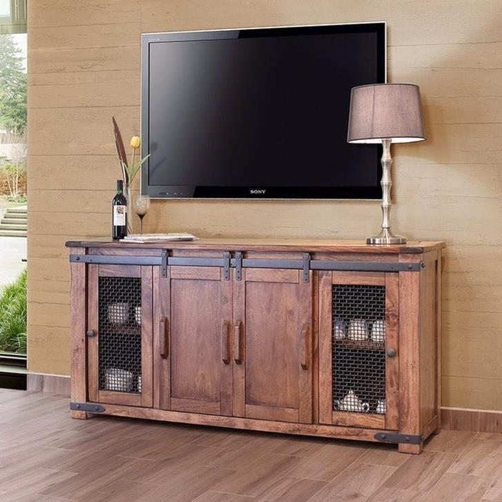 International Furniture Direct Parota Ifd867stand 70 Rustic 70 Tv