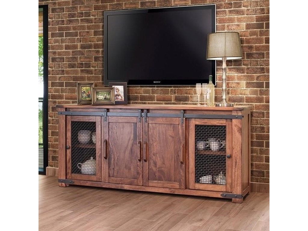 International Furniture Direct Parota Ifd867stand 80 Rustic 80 Tv