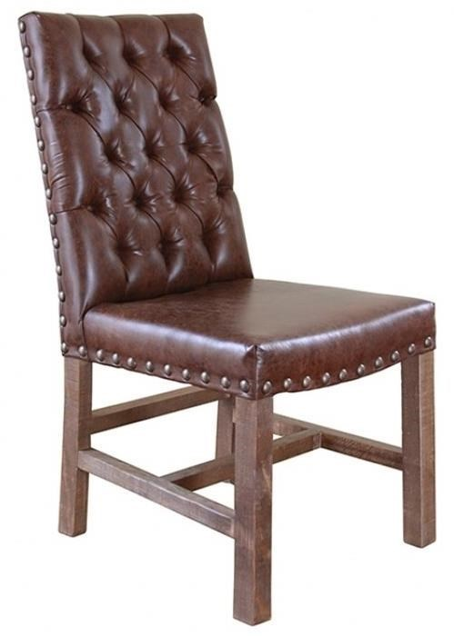 International Furniture Direct ParotaFaux Leather Chair with Tufted Back