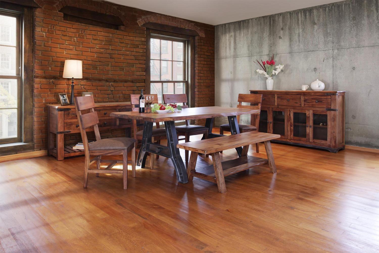 furniture direct parota 6 piece dining set with bench