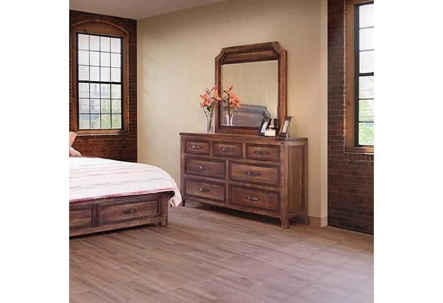 International Furniture Direct Regal Rustic Seven Drawer ...