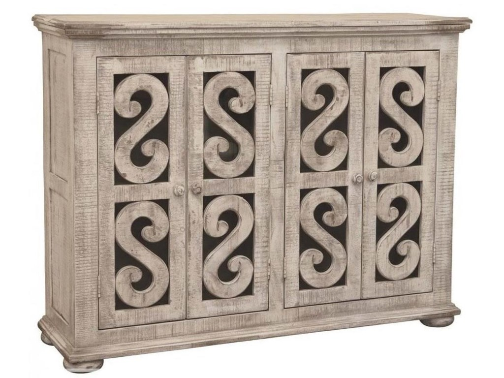 International Furniture Direct Rosanna Relaxed Vintage Solid Wood 4