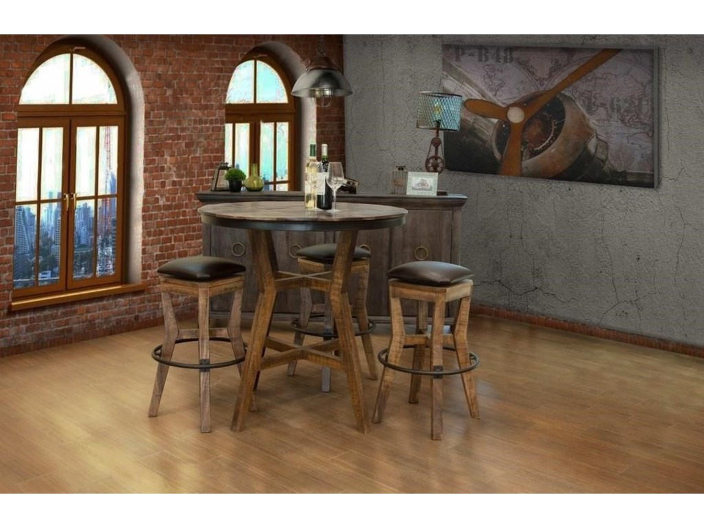 International Furniture Direct SalamancaBistro Table with Wooden Base