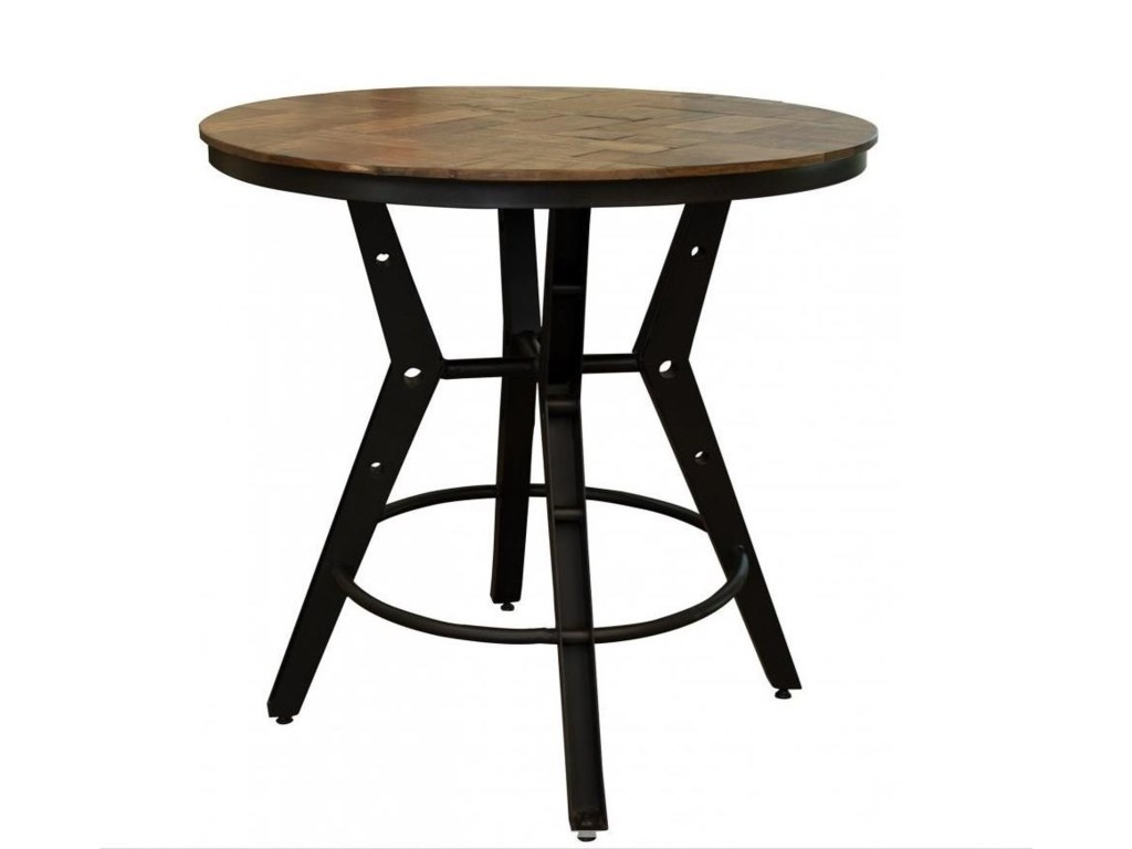 International Furniture Direct SalamancaBistro Table with Iron Base