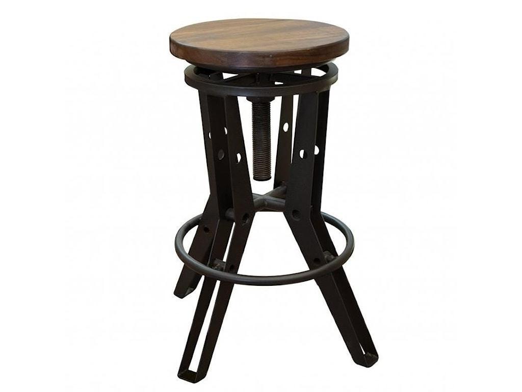 International Furniture Direct SalamancaAdjustable Height Iron Stool