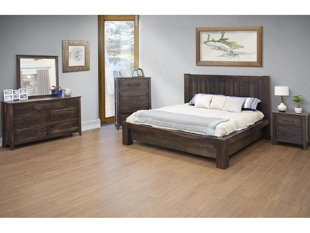 International Furniture Direct San LuisQueen Platform Bed