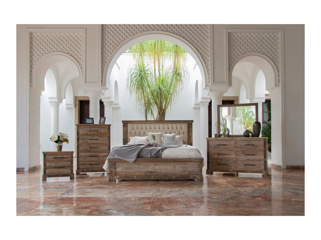 International Furniture Direct Santa ClaraQueen Bedroom Group