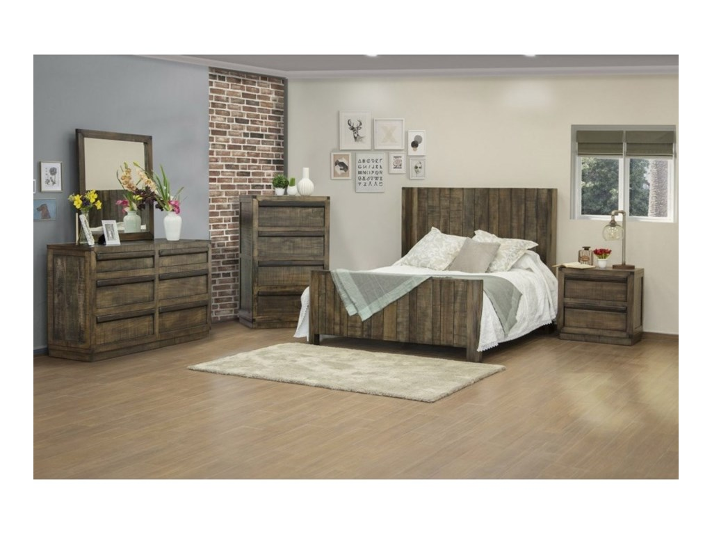 International Furniture Direct SierraQueen Bedroom Group