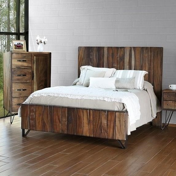 International Furniture Direct Taos Rustic Queen Platform Bed