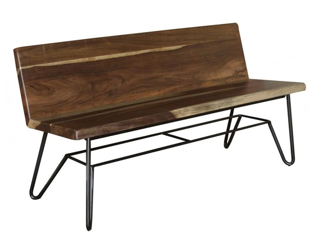 International furniture direct taossolid wood bench with back rest