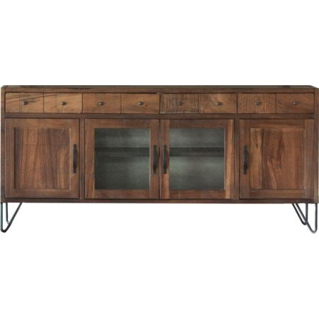 "80"" TV Stand with 4 Drawers and 4 Doors"