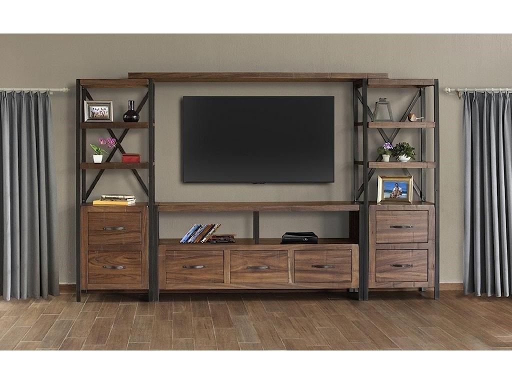 International Furniture Direct Taos4-pc Entertainment Center