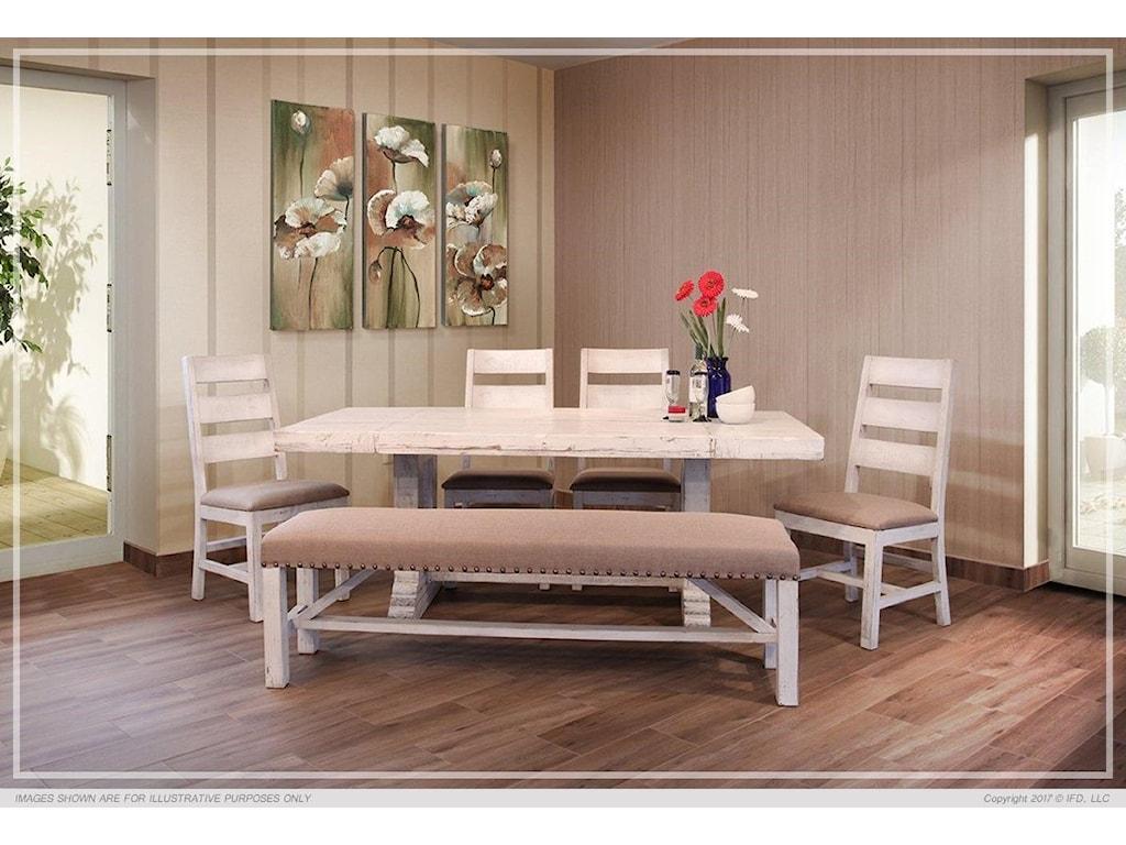 Terra White 7 PC Dining Room Set
