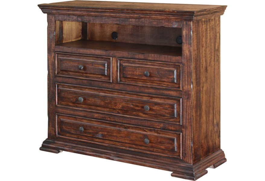 Terra Solid Wood 4 Drawer Media Chest By International Furniture Direct At Miller Waldrop And Decor