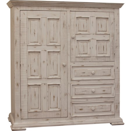 Gentleman's Chest with 2 Doors and 3 Drawers