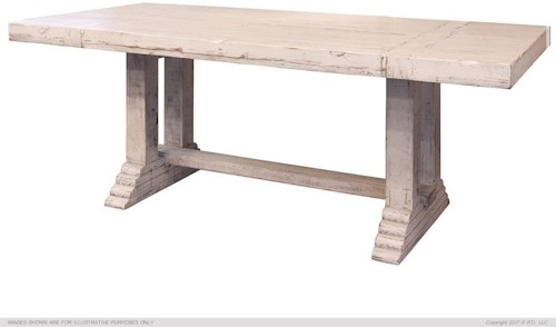 International Furniture Direct Terra White Dining Table