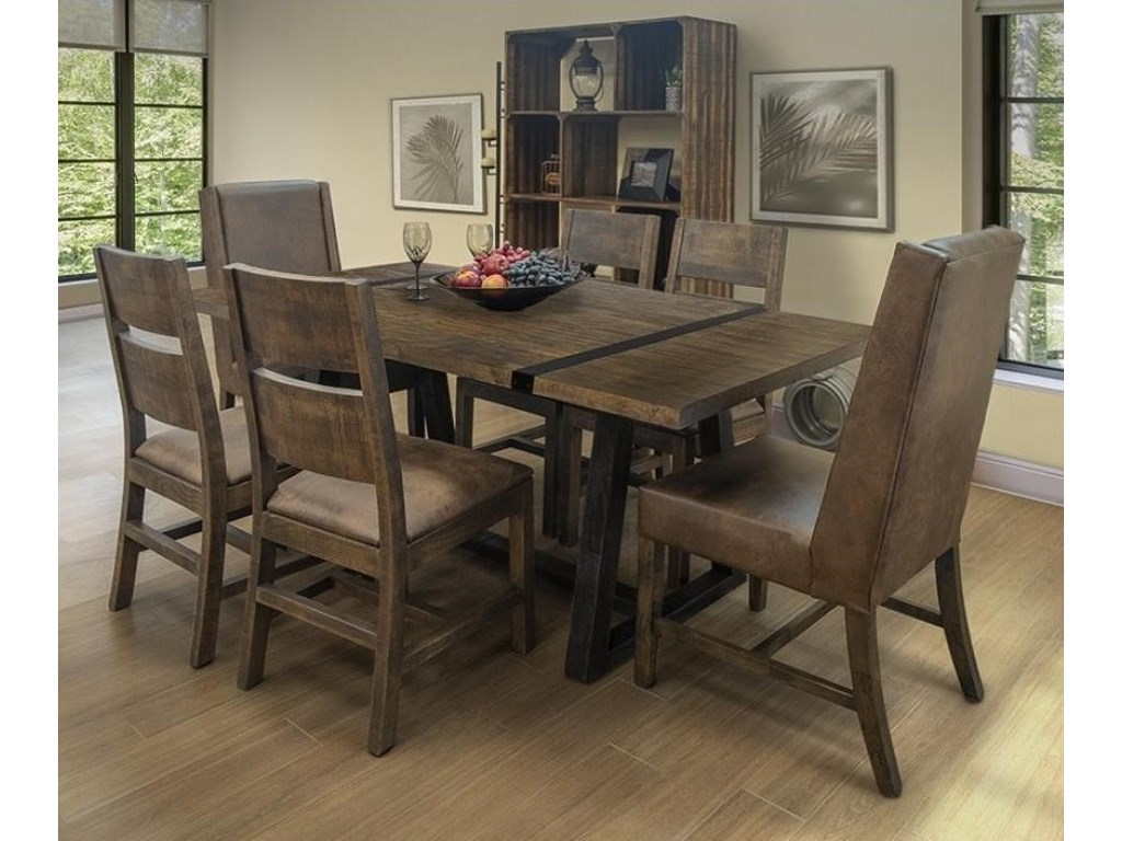International Furniture Direct Urban Art7-Piece Table and Chair Set