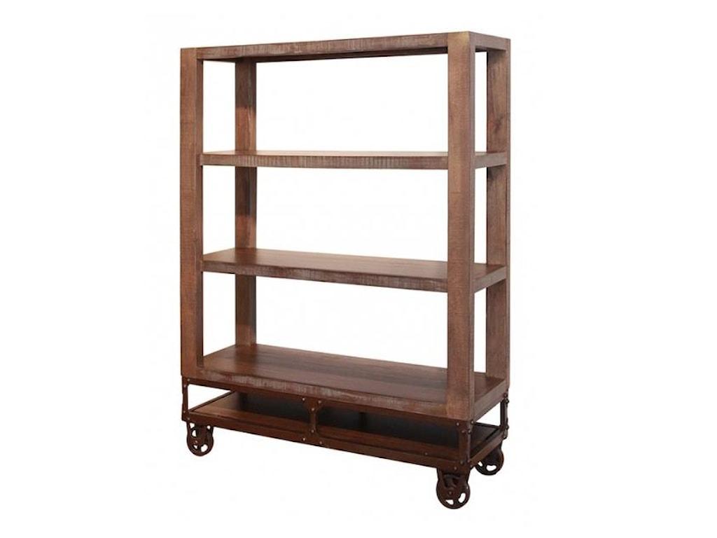 International Furniture Direct Urban Gold55 Inch Bookcase