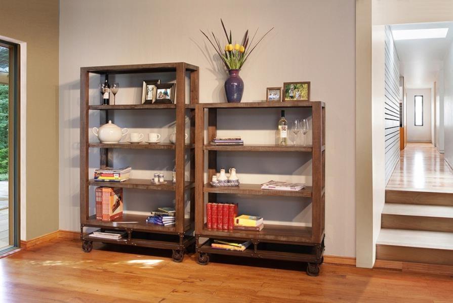 International Furniture Direct Urban Gold70 Inch Bookcase