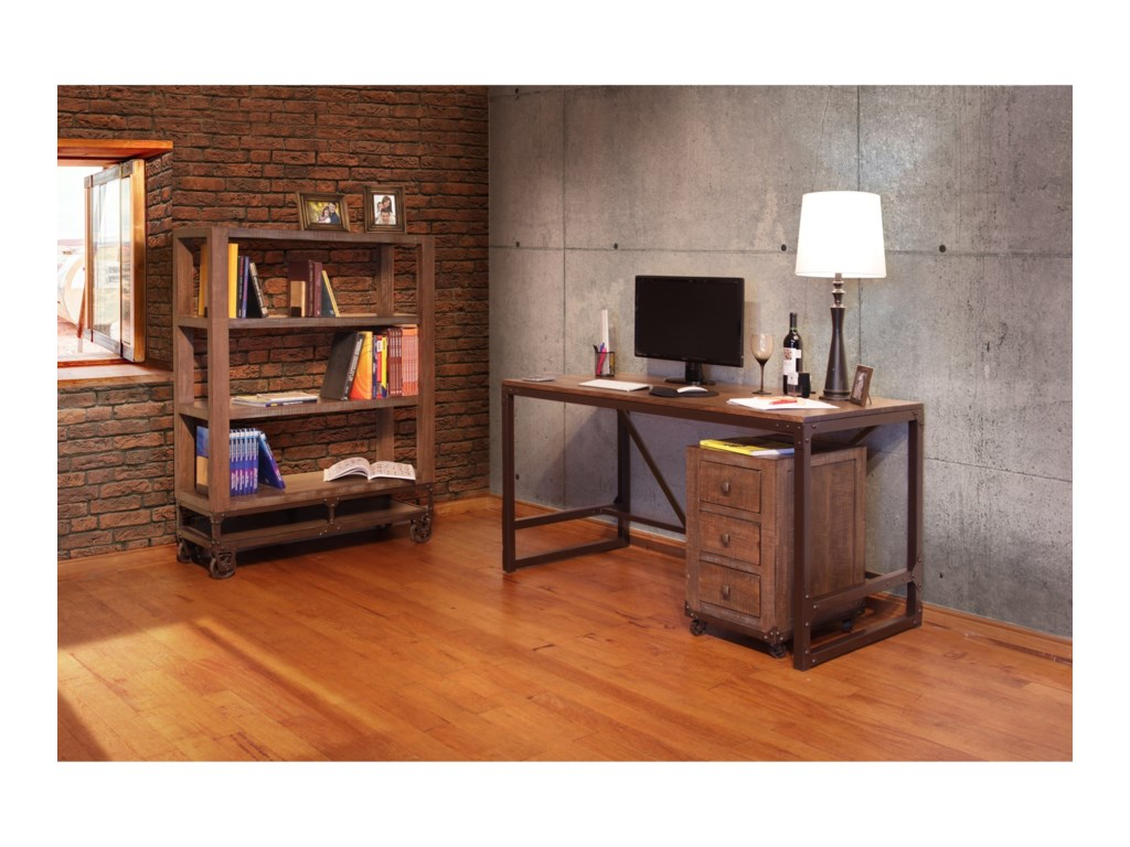 International Furniture Direct Urban GoldOffice Storage Unit